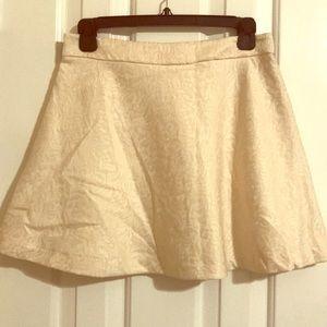 Cream Contemporary Forever 21 Skirt